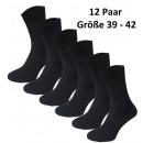 Großhandel Strümpfe & Socken: 12 Paar Classic  Socken aus Baumwolle 39-42