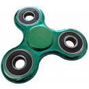 fidget finger spinner green in metallic look circl
