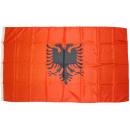 Großhandel Fanartikel & Souvenirs: Flagge Fahne Albanien 250 x 150 cm mit 3 Ösen 100g