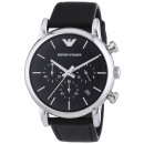 Emporio Armani Men's Watch AR1733 black leathe