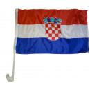 Autoflagge Kroatien 30 x 40 cm