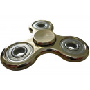 Fidget finger spinner gold colored in metallic loo