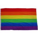 Großhandel Fanartikel & Souvenirs: Flagge Regenbogen / Frieden 90 x 150 cm