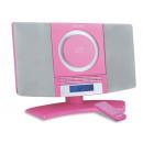 wholesale Clocks & Alarm Clocks: Denver MC-5220 Pink Wall Mountable CD Player