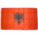 grossiste Gadgets et souvenirs: drapeau de drapeau  Albanie 90 x 150 cm, avec 2 oei