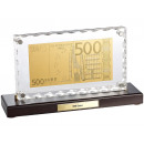 500 Euro banknote replica finished with gold decor