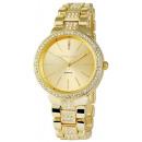 Großhandel Schmuck & Uhren: Excellanc 1513  Damen Armbanduhr Goldfarben Strass