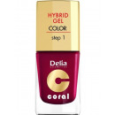 wholesale Nail Varnish: Hybrid Gel nail  enamel nr12 burgundy 11ml