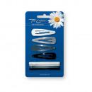 wholesale Hair Accessories: Pyka slides + 4 +  4 white / silver / gray / black