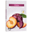 Scented candles, tealight; Plum 6p.