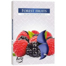 Scented candles,  tealight: Forest fruits 6p.
