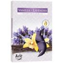 Großhandel Home & Living: Duftkerzen, Teelicht: Vanille Lavendel 6p.