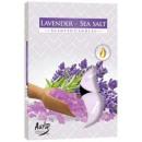 Duftkerzen, Lavendel und Meersalz 6-tlg.