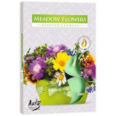 Scented candles, tealight: Flower meadow 6p.