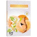 Duftkerzen, Teelicht: Blumen Mandarine 6p.