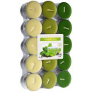 grossiste Bougies & bougeoirs: Bougies parfumées,  photophores vert 30pcs thé.