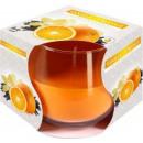 Duftkerze in einem Glas; Vanille und orange