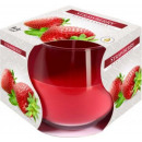 Duftkerze in einem Glas; Erdbeere