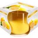 Duftkerze in einem Glas; Zitrone