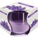 Scented candle in a glass; Lavender