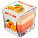 Scented candle tricolor glass; Orange