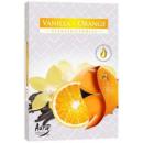 Duftkerzen, Vanille und Orange; 6p.