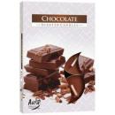 Geurkaarsen,  theelichtje Chocolade; 6p.