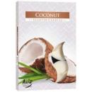 Las velas perfumadas, candelita: Kokos; 6p.