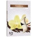 Duftkerzen, Teelicht: Vanille; 6p.