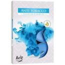 Las velas perfumadas, candelita: Tabaco anti; 6p.