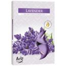 Duftkerzen, Teelicht: Lavendel; 6p.