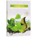 Duftkerzen, Teelicht Grüner Tee; 6p.