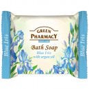 Blue iris soap and argan oil