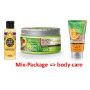A set of cosmetics for body care