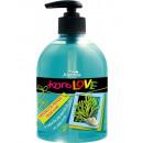 jabón líquido para el cuerpo con el aroma de algas