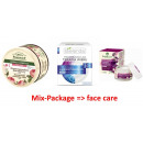 A set of face creams; mix-package