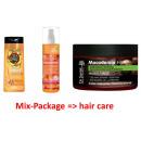 Artículos de tocador de pelo, confusión paquete
