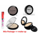 A set of face  cosmetics; powder, shadow, lipstick