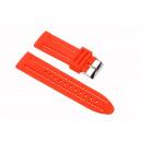 Großhandel Zubehör & Ersatzteile: Silikon-Armbänder, rot / weiß, 24mm