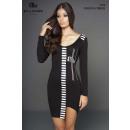 wholesale Dresses: LADIES DRESS BLACK STRIPED +