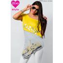 ingrosso Ingrosso Abbigliamento & Accessori: top delle donne  modellato con il giallo e grigio