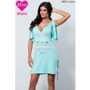 Damenbekleidung  Etikett, wasserblau melange