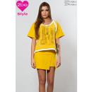 ingrosso Gonne: mini gonna delle donne, giallo