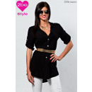 ingrosso Ingrosso Abbigliamento & Accessori: camicetta a  maniche corte delle donne, il nero