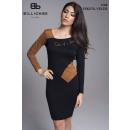 wholesale Dresses: WOMEN'S BLACK DRESS suede +