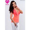 ingrosso Ingrosso Abbigliamento & Accessori: delle donne top a  maniche corte, arancio