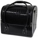 groothandel Tassen & reisartikelen: Cosmetische zak - Zachte Croco - Zwart