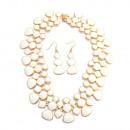 groothandel Sieraden & horloges: Arabian Night halsketting set, wit