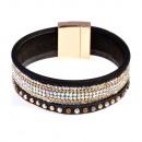 grossiste Bijoux & Montres: Lumière bracelet perle, noir