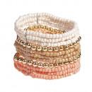 grossiste Bijoux & Montres: beige Gyöngyi, bracelet de perles